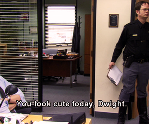 the office, funny, and dwight image