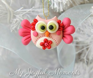christmas, fimo, and owl image