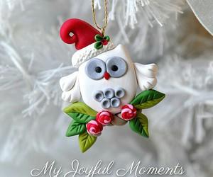 owl, christmas, and fimo image