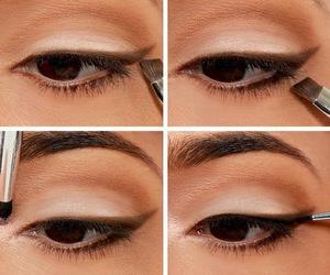 eyes, tutorial, and eyeshadow image
