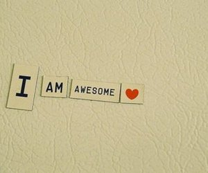 awesome, heart, and text image