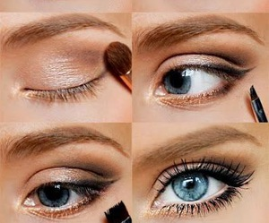 elegant, sexy, and golden make up image