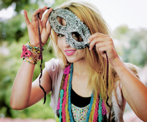 dianna agron, mask, and glee image