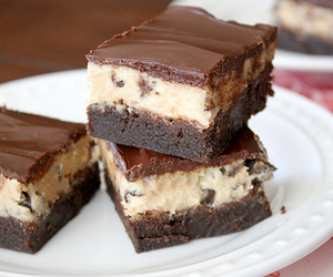 brownies, chocolate, and cookie dough image