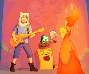 adventure time and flamfinn image