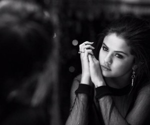selena gomez, selena, and black and white image