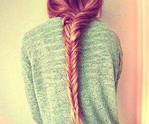 blonde, braid, and girly image