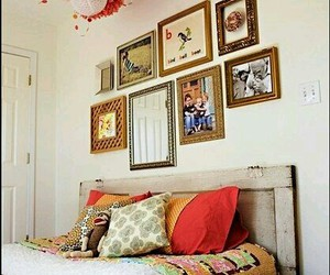 bed, colours, and decor image