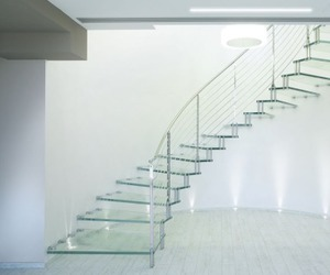 architecture, interior, and stairs image