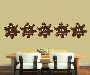 chemical elements, kitchen decor, and wall decals image