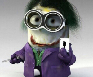 minions, joker, and batman image