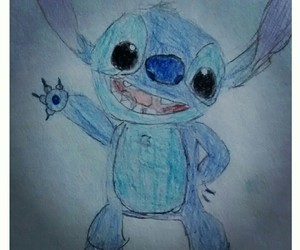 art, childhood, and lilo&stitch image
