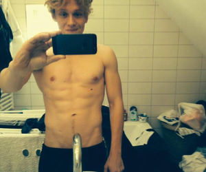 abs, blond boy, and body image