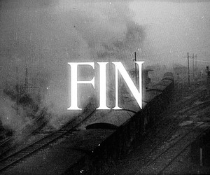 black and white, fin, and end image