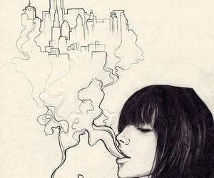 smoke, art, and city image