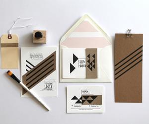 design, invitations, and kraft paper image