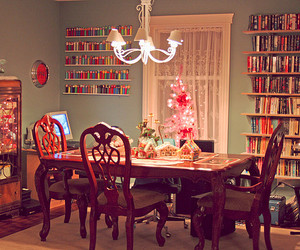 book, christmas, and dining room image