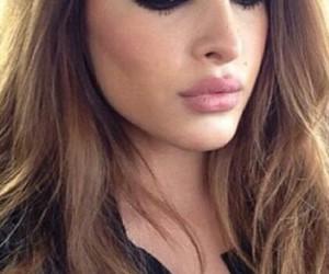 beauty, long hair, and lips image