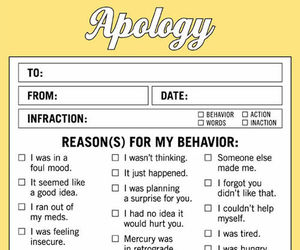 apology and funny image