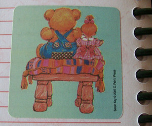 bear, sticker, and doll image
