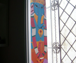 art, bedroom, and Ganesh image