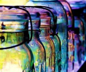glass, jars, and bottle image