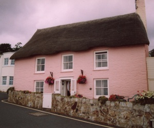 pink, england, and cottage image