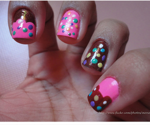 candy, cupcake, and nails image