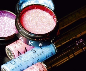 glitter, makeup, and girly image