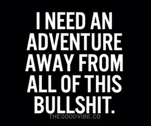 adventure, bullshit, and quotes image