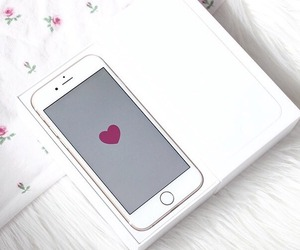 iphone, white, and we heart it image