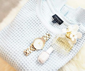 fashion, watch, and sweater image