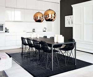 interior, white, and black image