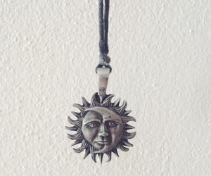 black and white, necklace, and sun image
