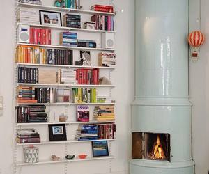 book and fireplace image