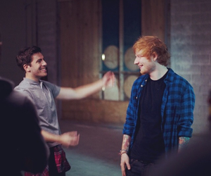 ed sheeran, hoodie allen, and all about it image