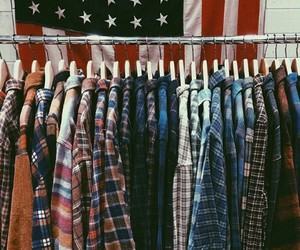 fashion, flannel, and grunge image