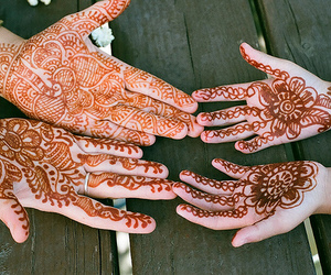 henna, hands, and tattoo image