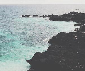 beach, ocean, and water image