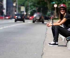 girl, skate, and street image