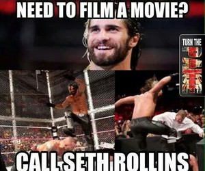 meme, wwe, and seth rollins image