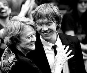 maggie smith, rupert grint, and harry potter image