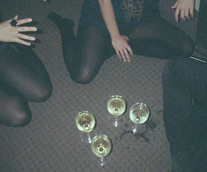girl, party, and drink image