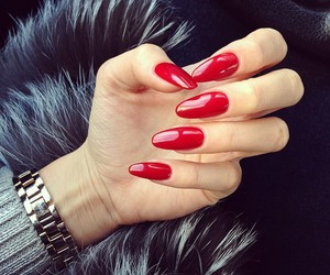cosmetics, nails, and red nails image