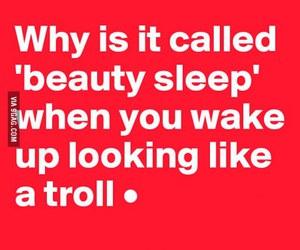 sleep, beauty, and funny image