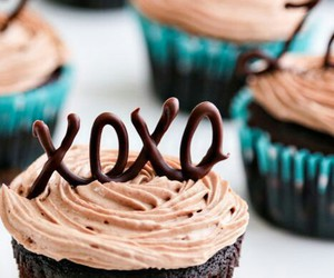 xoxo, cupcake, and chocolate image