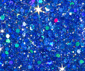 blue, glitter, and holographic image