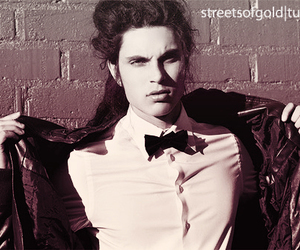 samuel larsen, black and white, and boy image