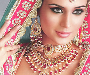 bride, indian, and jewelry image