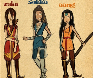 girl, version, and aang image